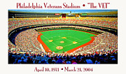 Philadelphia Phillies Posters - Philadelphia Veterans Stadium The Vet Poster by A Gurmankin