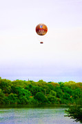Philadelphia Prints - Philadelphia Zoo Balloon over the Schuylkill River Print by Bill Cannon