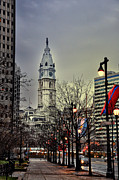Philadelphia City Hall Framed Prints - Philadelphias Iconic City Hall Framed Print by Bill Cannon