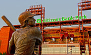 Citizens Bank Park Photo Framed Prints - Philadelphias Legend Framed Print by Michael Misciagno