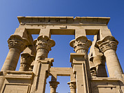 Hathor Metal Prints - Philae Temple Egypt Metal Print by Brenda Kean