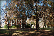 Nature Study Digital Art - Philanthropic Hall and The Well - Davidson College by Paulette Wright