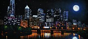 City Skylines Paintings - Phillie by Thomas Kolendra