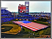 Philadelphia Phillies Stadium Digital Art Prints - Phillies American Print by Alice Gipson