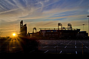 Citizens Bank Park Digital Art Framed Prints - Phillies Citizens Bank Park at Dawn Framed Print by Bill Cannon