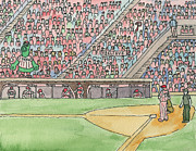 Baseball Game Paintings - Phillies Game by Cee Heard