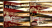Pennant Framed Prints - Phillies Pennants Framed Print by Bill Cannon