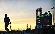 Citizens Bank Park Digital Art Posters - Phillies Stadium at Dawn Poster by Bill Cannon