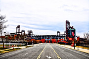 Phillies Digital Art Prints - Phillies Stadium - Citizens Bank Park Print by Bill Cannon