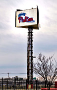 Citizens Bank Park Digital Art Posters - Phillies Stadium Sign Poster by Bill Cannon