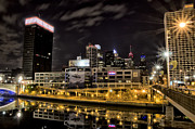 Philly Digital Art - Philly at Night by Bill Cannon