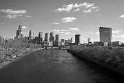 Skylines Photo Framed Prints - Philly b/w Framed Print by Jennifer Lyon