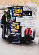 Philly Digital Art Metal Prints - Philly Cheese Steak Cart Metal Print by Bill Cannon