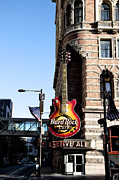 Philly Digital Art Metal Prints - Philly Hard Rock Cafe Les Paul Sign Metal Print by Bill Cannon
