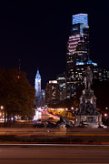 Benjamin Franklin Parkway Photos - Philly Lights by Wayne Stacy