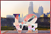 Philly Digital Art Metal Prints - Philly Love Metal Print by Bill Cannon