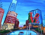 Philadelphia Pa Painting Posters - Philly Love Poster by Jennifer Virgin
