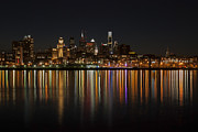 Philadelphia Skyline Photos - Philly night by Jennifer Lyon
