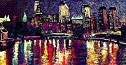 Kevin J Cooper Artwork Paintings - Philly Night by Kevin J Cooper Artwork