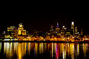 Philly Digital Art Metal Prints - Philly Nights Metal Print by Bill Cannon