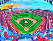 Phillies Painting Metal Prints - Philly Park Metal Print by Jennifer Virgin