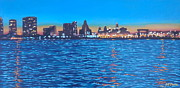 Philadelphia Pa Painting Posters - Philly Skyline Poster by Elisabeth Olver