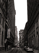 Philadelphia Street Framed Prints - Philly Street Framed Print by Olivier Le Queinec