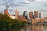 Schuylkill Art - Philly summer skyline by Jennifer Lyon