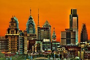 Philadelphia Skyline Photos - Philly Sunset by Nick Zelinsky