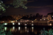 Philly Digital Art Metal Prints - Philly Waterworks at Night Metal Print by Bill Cannon