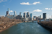 Skyline Photo Metal Prints - Philly winter Metal Print by Jennifer Lyon