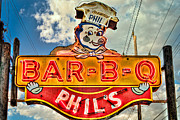 Phils Prints - Phils Barbeque Print by Robert  FERD Frank