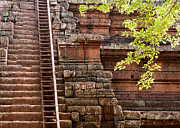 Stone Steps Prints - Phimeanakas Temple Steps Print by Rick Piper Photography
