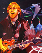 Concert Painting Posters - Phish Full Band Anastasio Poster by Joshua Morton