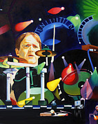 Musician Paintings - Phish Full Band Fishman by Joshua Morton