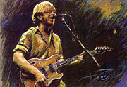 Singer Pastels Metal Prints - Phish Metal Print by Ylli Haruni