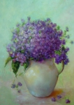 Phlox Painting Prints - Phlox          copyrighted Print by Kathleen Hoekstra