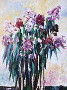 Phlox Painting Framed Prints - Phlox Framed Print by Barbara Pommerenke