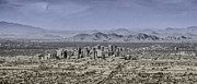 Capital Drawings - Phoenix Arizona Panorama by John Haldane