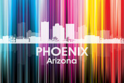 Iconic Design Mixed Media Prints - Phoenix AZ 2 Print by Angelina Vick