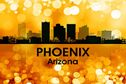 Iconic Design Mixed Media Prints - Phoenix AZ 3 Print by Angelina Vick