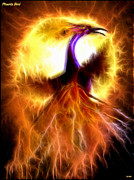 Reborn Light Prints - Phoenix Bird Print by Daniel Janda