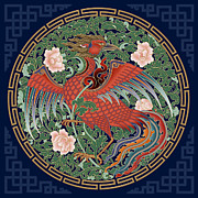 Tibet Mixed Media Prints - Phoenix Print by Chris  Banigan