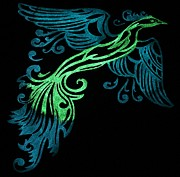 Glow In The Dark Originals - Phoenix in flight by Twilight Vision