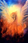 Healing Art Painting Framed Prints - Phoenix Rising Framed Print by Marina Petro
