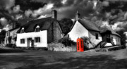 Thatched Cottage Posters - Phone and Thatch Poster by Rob Hawkins