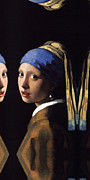 Girl With A Pearl Earring Paintings - Phone Case The Girl with a Pearl Earring by Johannes Vermeer