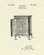 Record Player Drawings - Phonograph Cabinet 1926 Patent Art by Prior Art Design