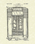 Roberts Drawings - Phonograph Cabinet 1938 Patent Art by Prior Art Design