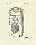 Playing Drawings - Phonograph Cabinet 1947 Patent Art by Prior Art Design